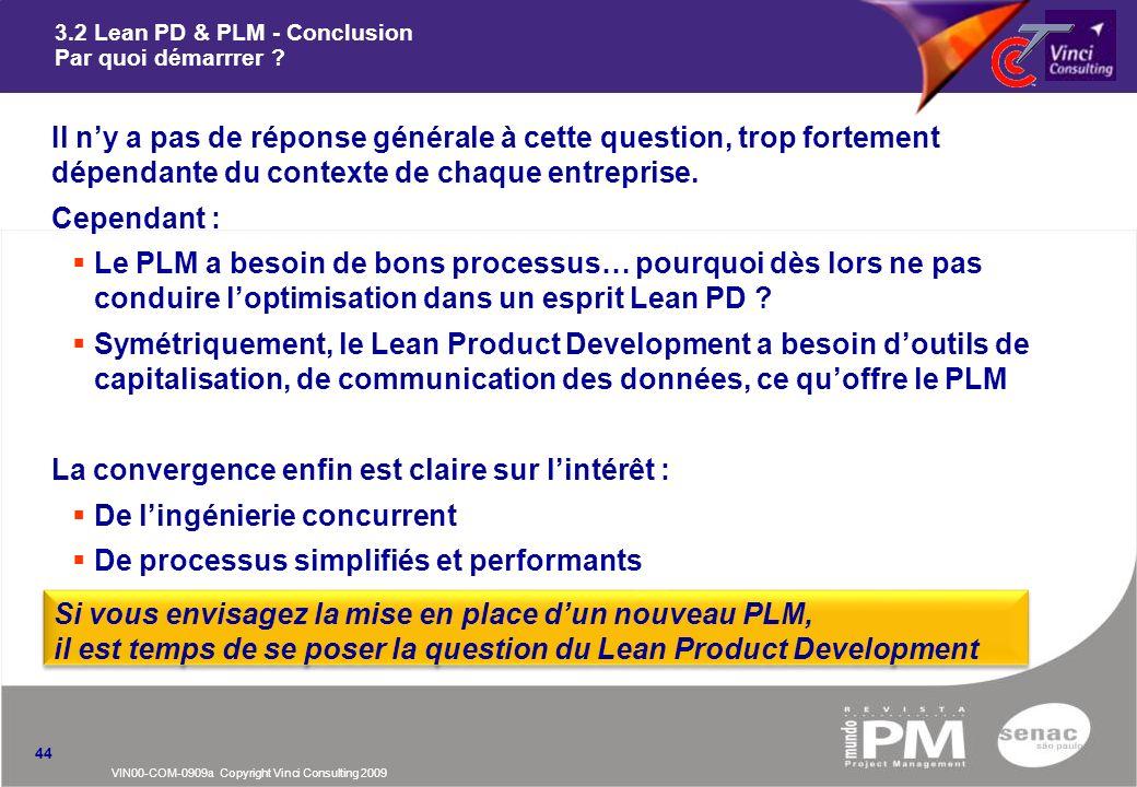 3.2 Lean PD & PLM - Conclusion Par quoi démarrrer