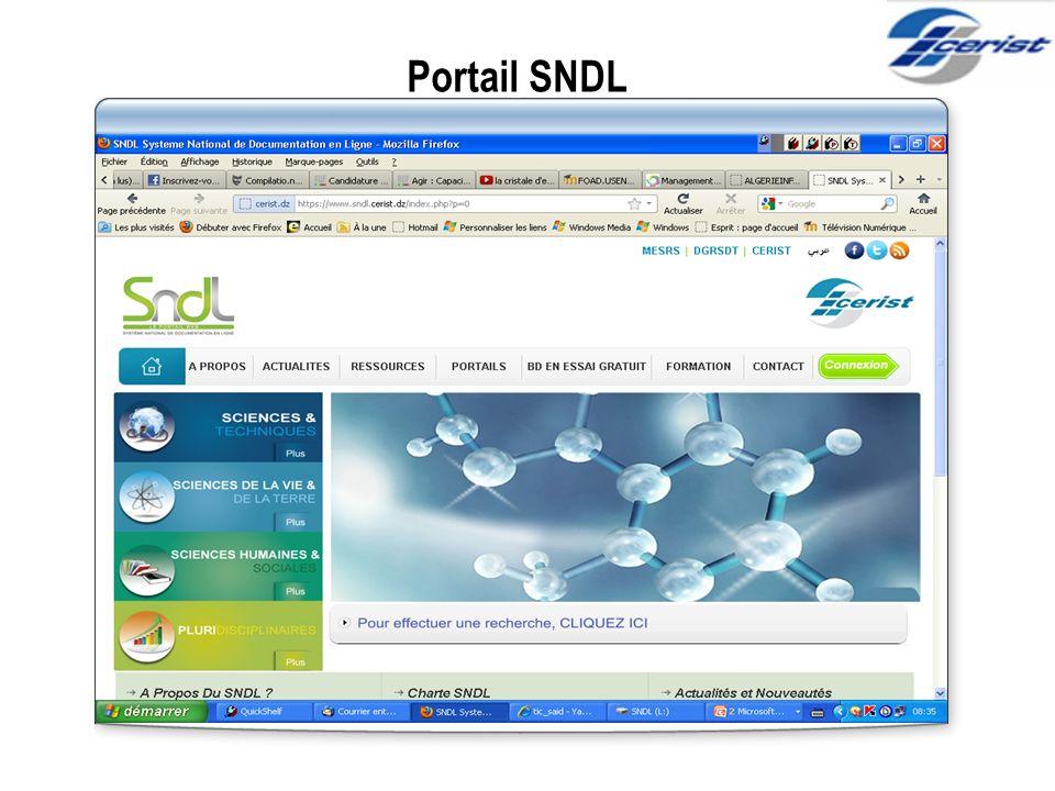 Portail SNDL