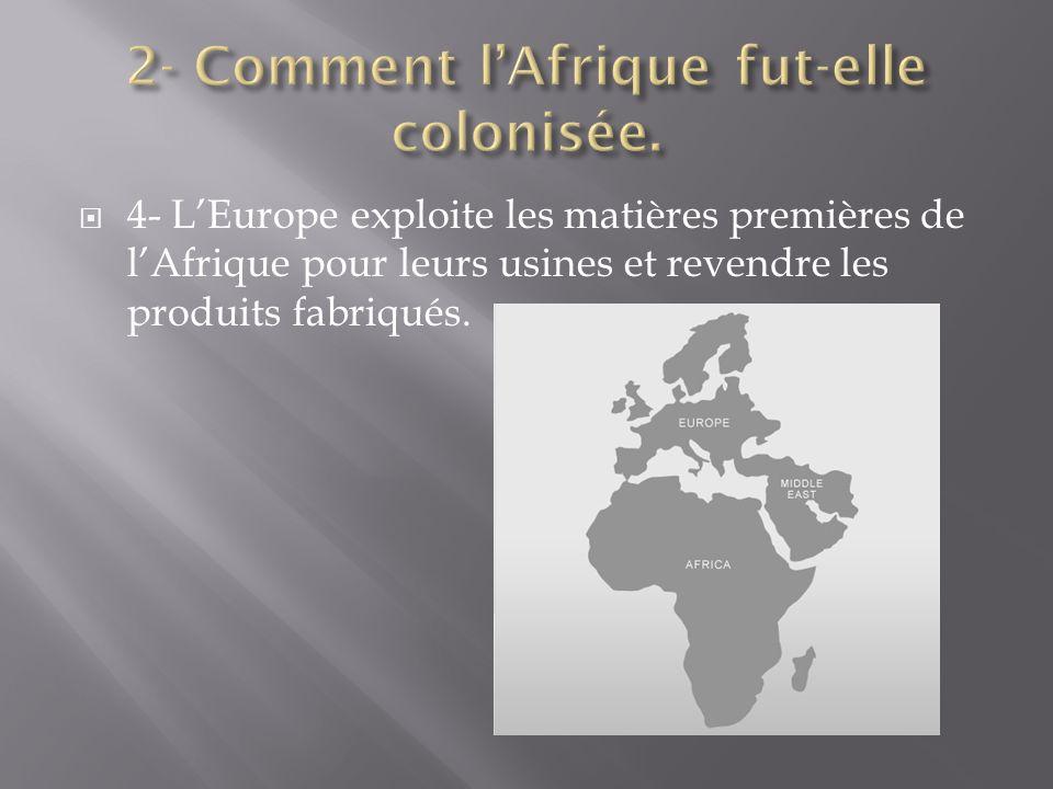 2- Comment l'Afrique fut-elle colonisée.