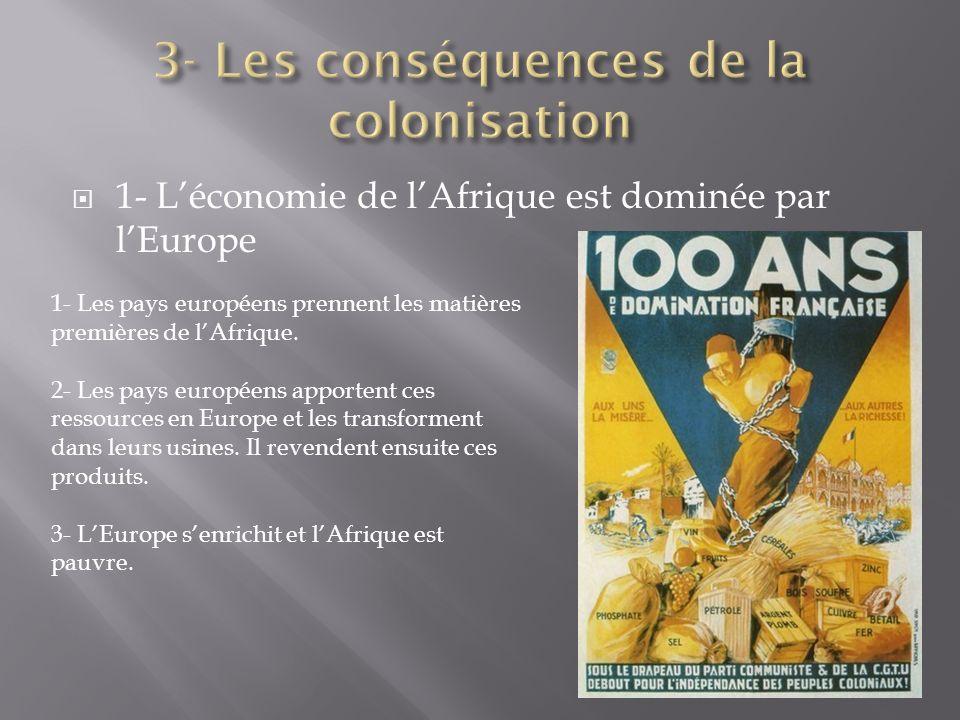 3- Les conséquences de la colonisation