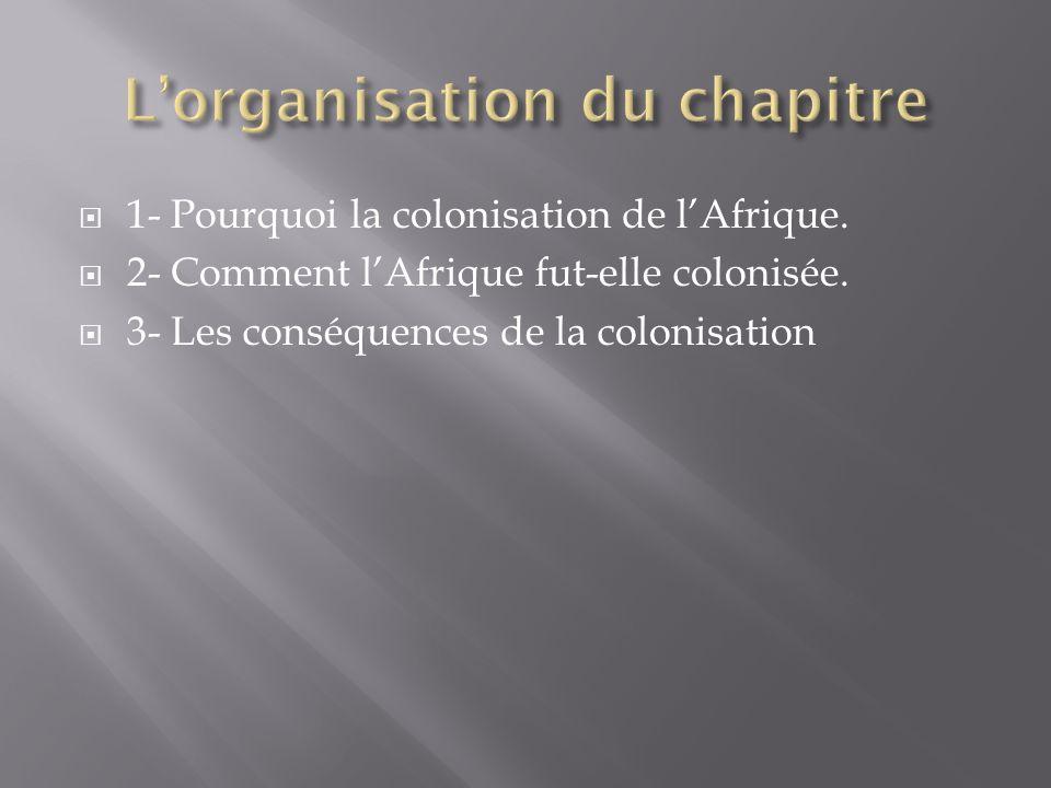 L'organisation du chapitre
