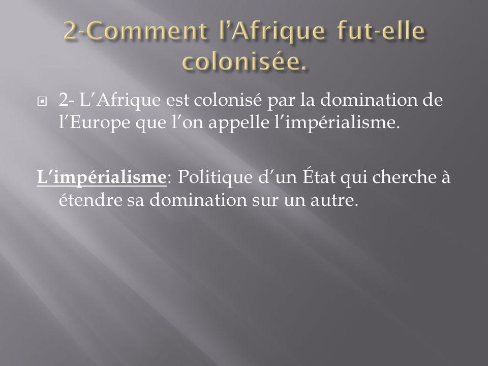 2-Comment l'Afrique fut-elle colonisée.