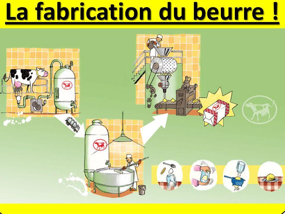 La fabrication du beurre !
