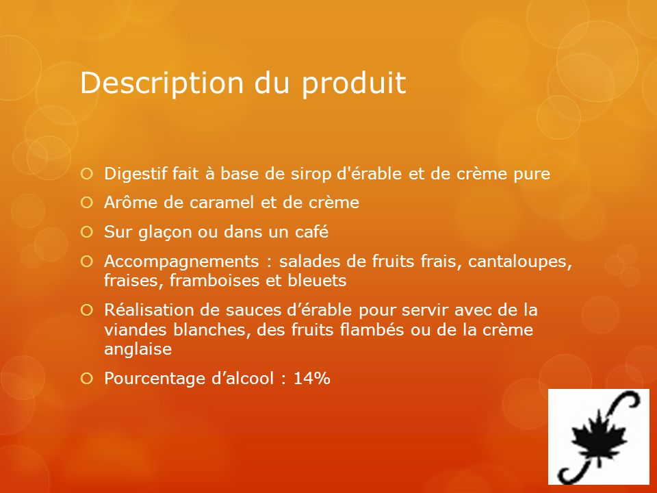 Description du produit
