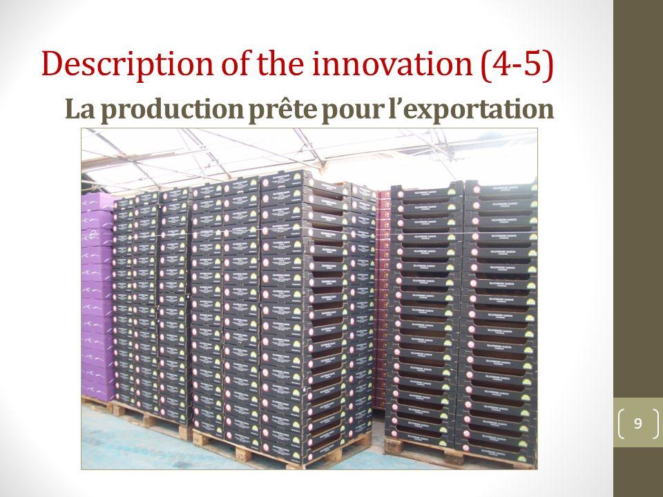 La production prête pour l'exportation