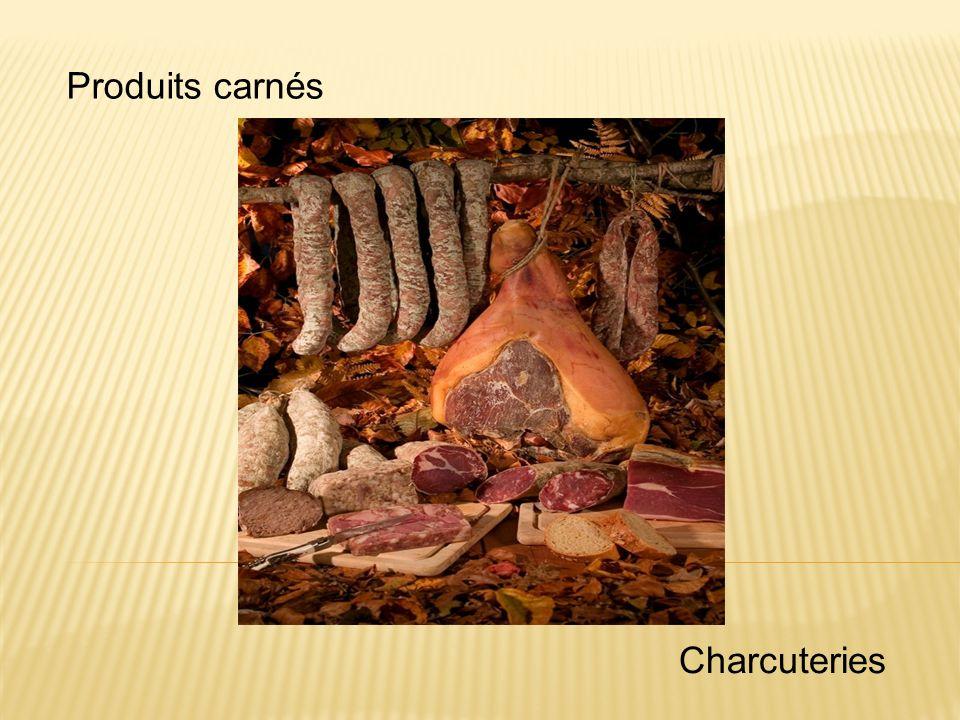 Produits carnés Charcuteries