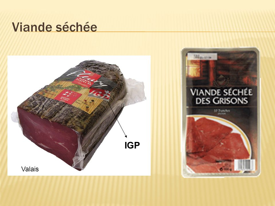 Viande séchée IGP Valais