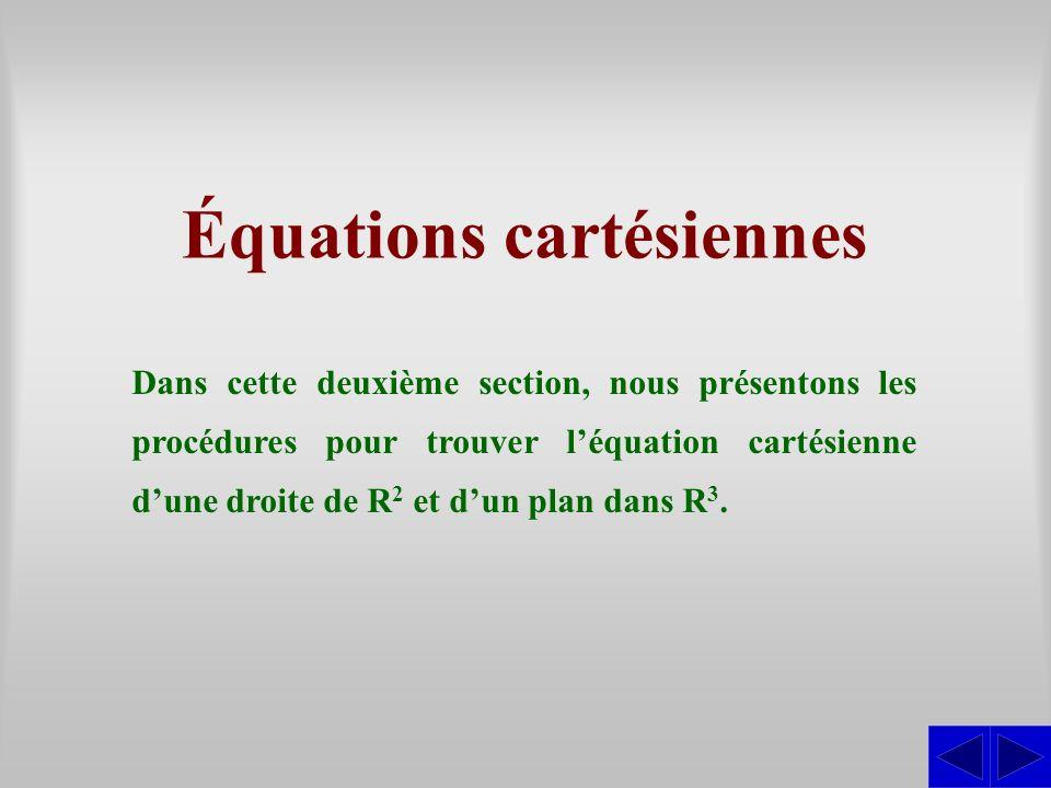 Équations cartésiennes