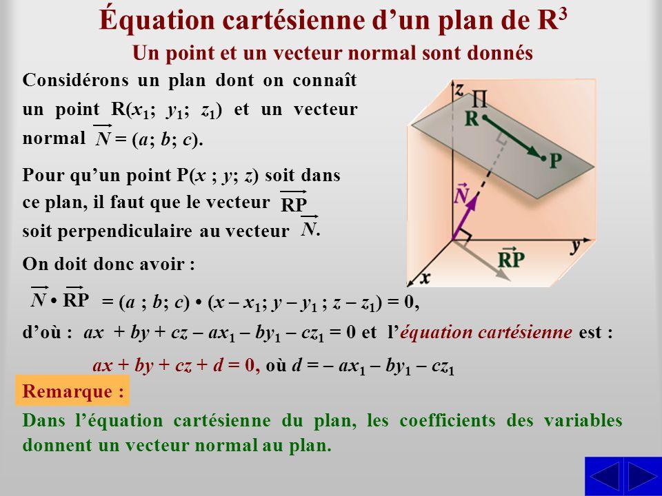 Équation cartésienne d'un plan de R3