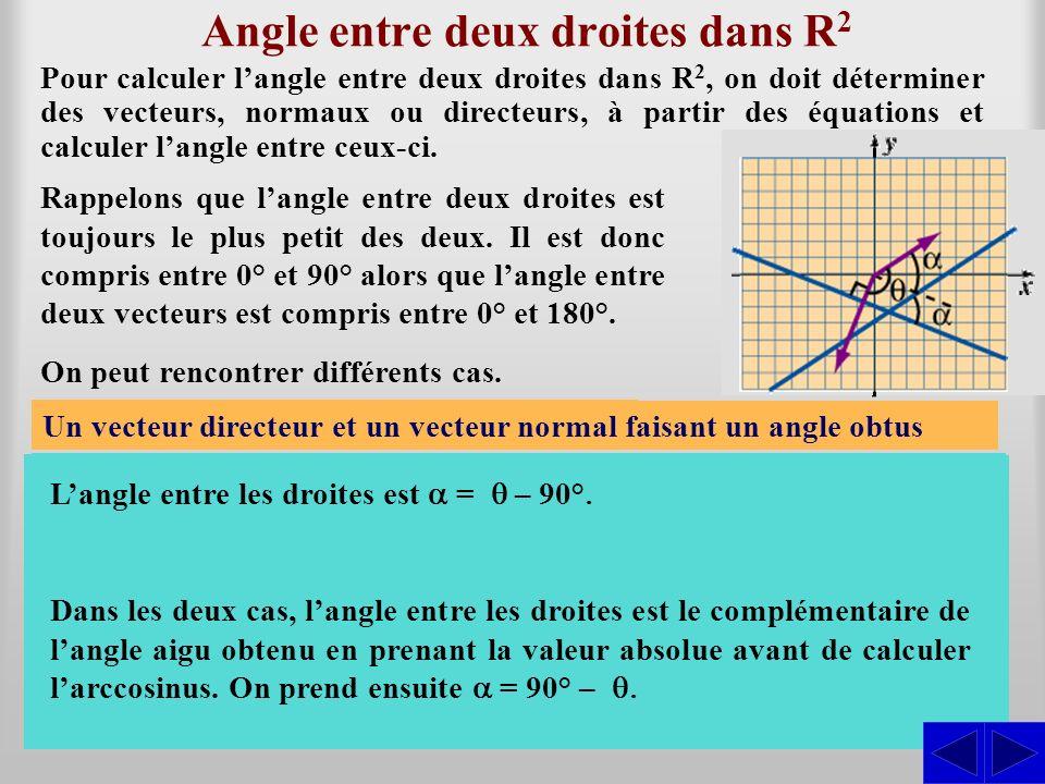 Angle entre deux droites dans R2