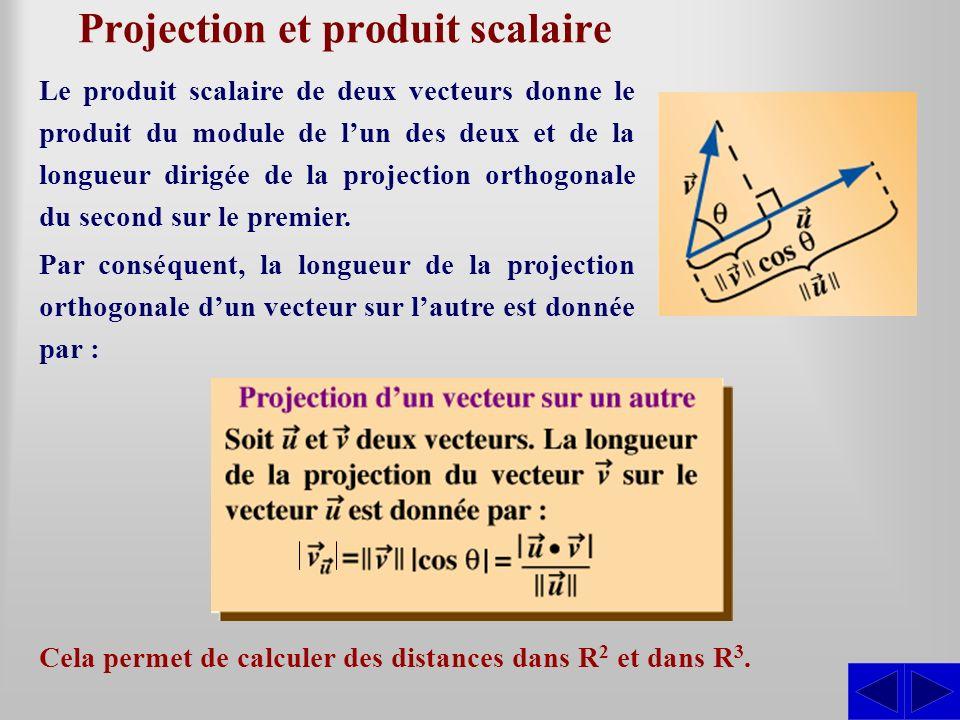 Projection et produit scalaire