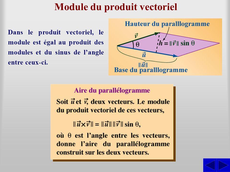 Module du produit vectoriel