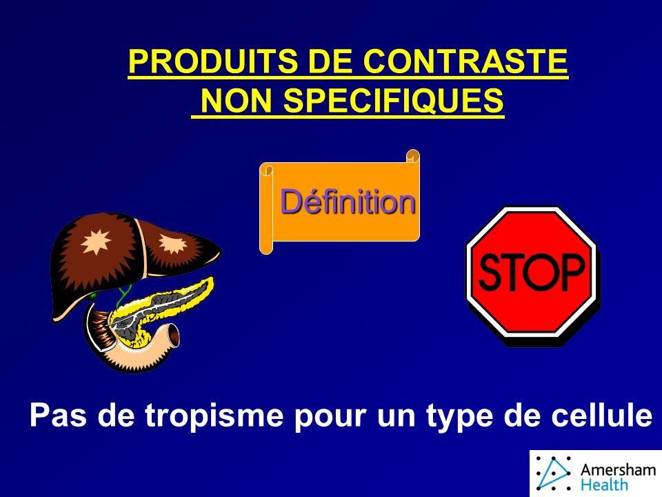 PRODUITS DE CONTRASTE NON SPECIFIQUES