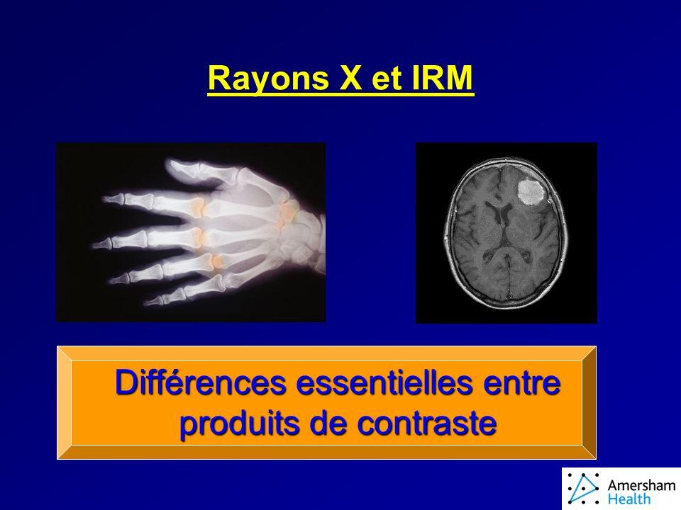 Différences essentielles entre produits de contraste