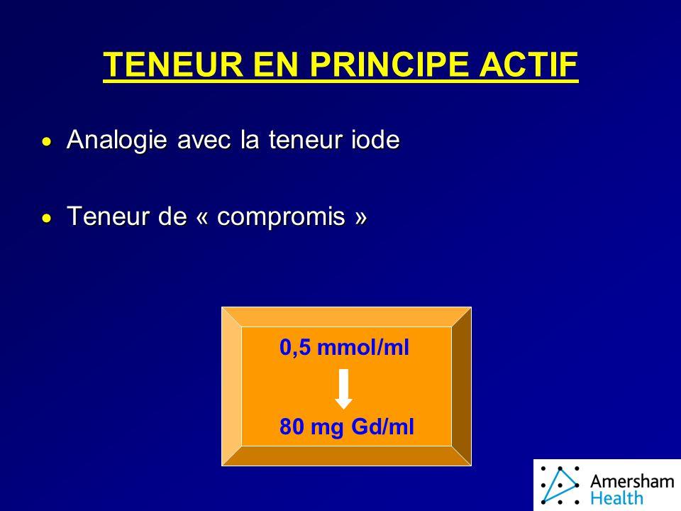 TENEUR EN PRINCIPE ACTIF