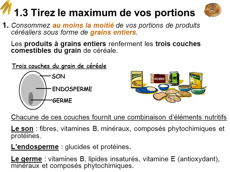 1.3 Tirez le maximum de vos portions