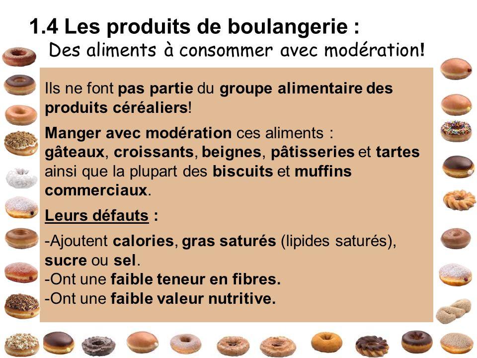 1.4 Les produits de boulangerie :