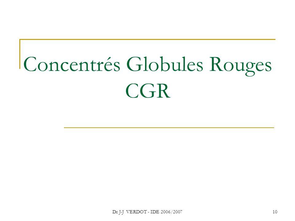 Concentrés Globules Rouges CGR