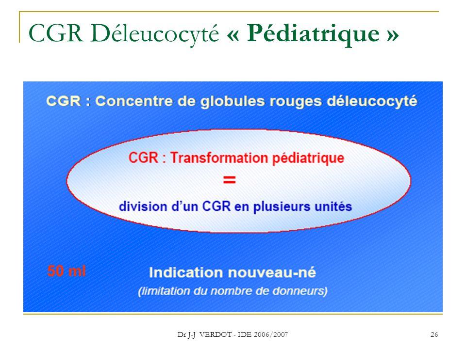 CGR Déleucocyté « Pédiatrique »