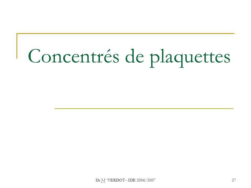 Concentrés de plaquettes