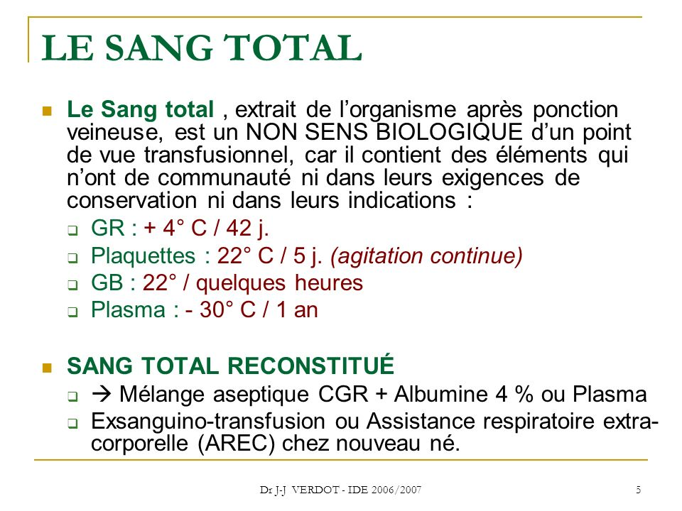 LE SANG TOTAL