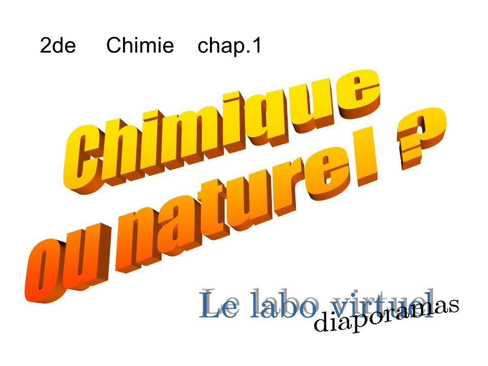 2de Chimie chap.1 Chimique ou naturel