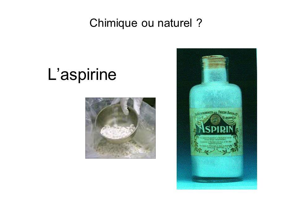 Chimique ou naturel L'aspirine
