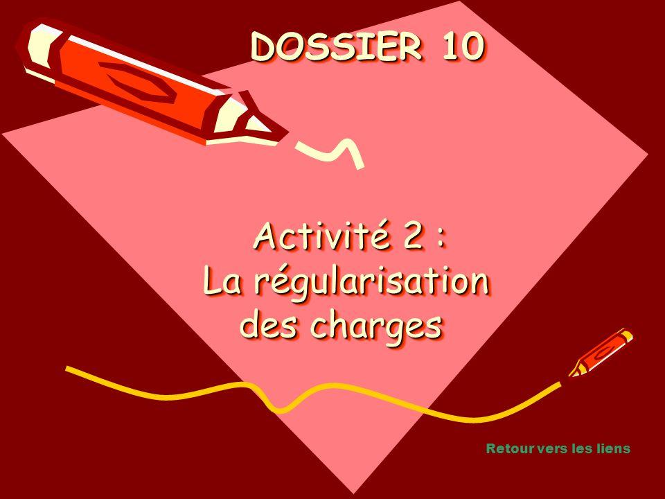 Activité 2 : La régularisation des charges