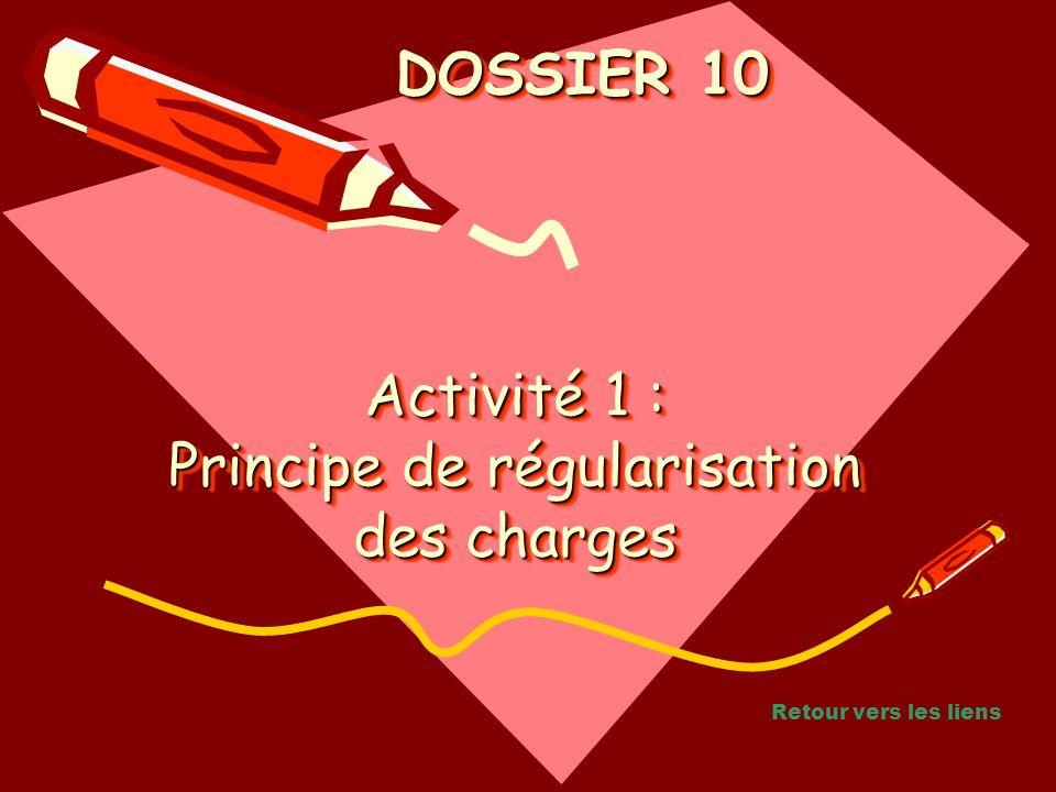 Activité 1 : Principe de régularisation des charges
