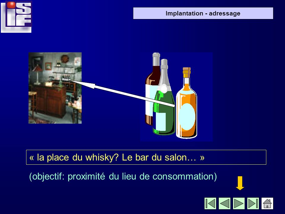 « la place du whisky Le bar du salon… »