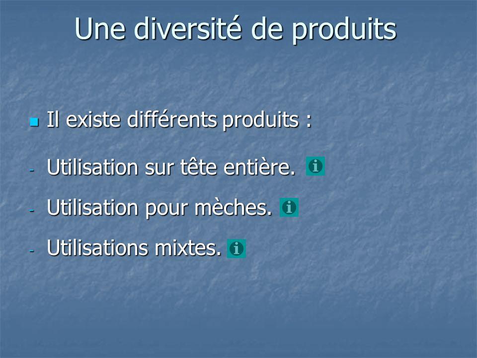 Une diversité de produits