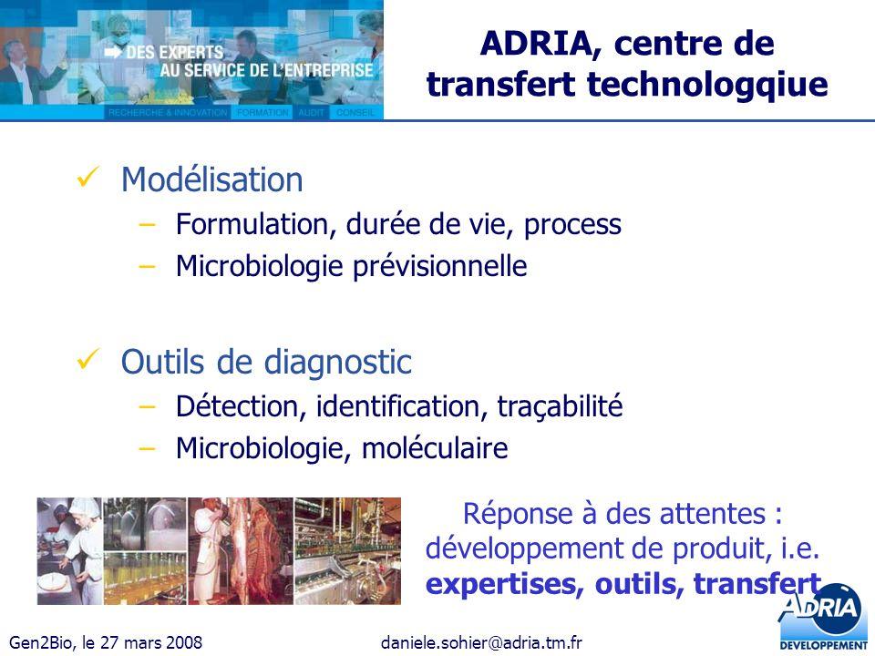 ADRIA, centre de transfert technologqiue