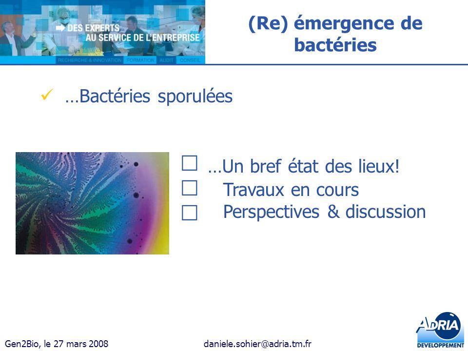 (Re) émergence de bactéries