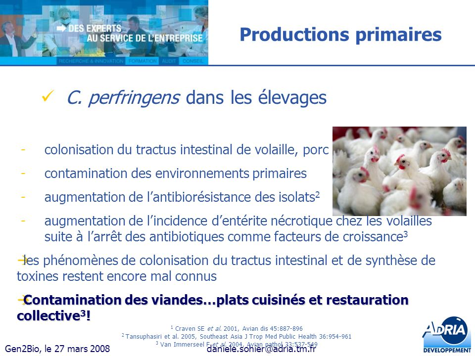 Productions primaires