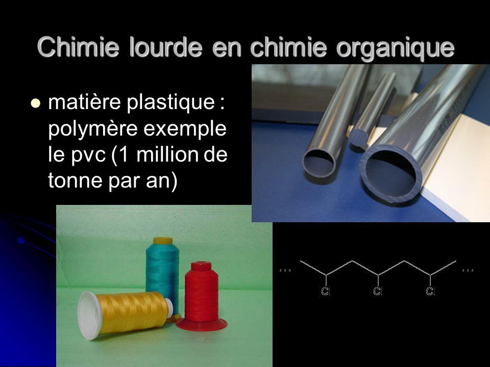 Chimie lourde en chimie organique