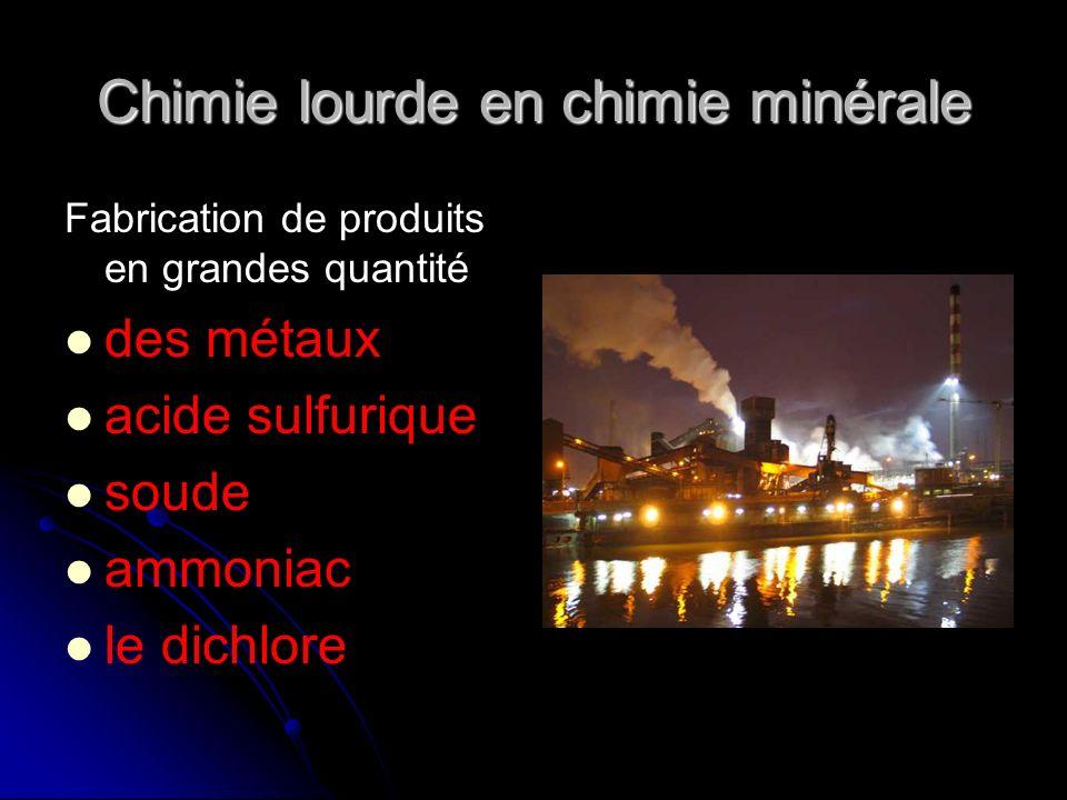 Chimie lourde en chimie minérale