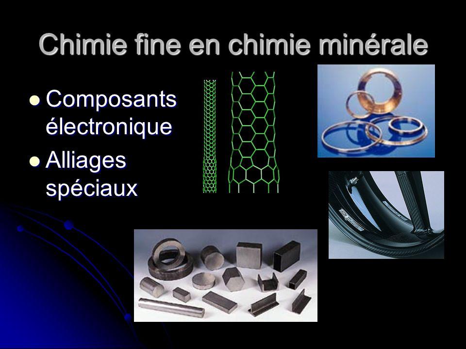 Chimie fine en chimie minérale