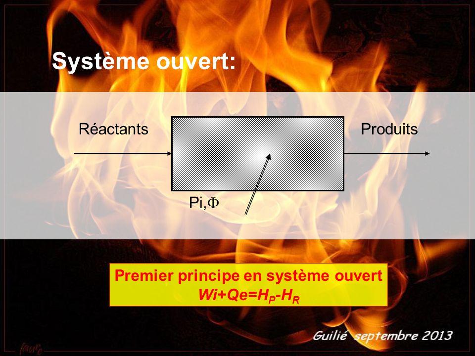 Premier principe en système ouvert