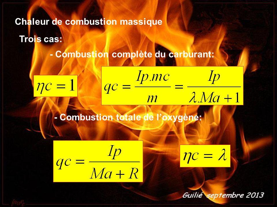 Chaleur de combustion massique