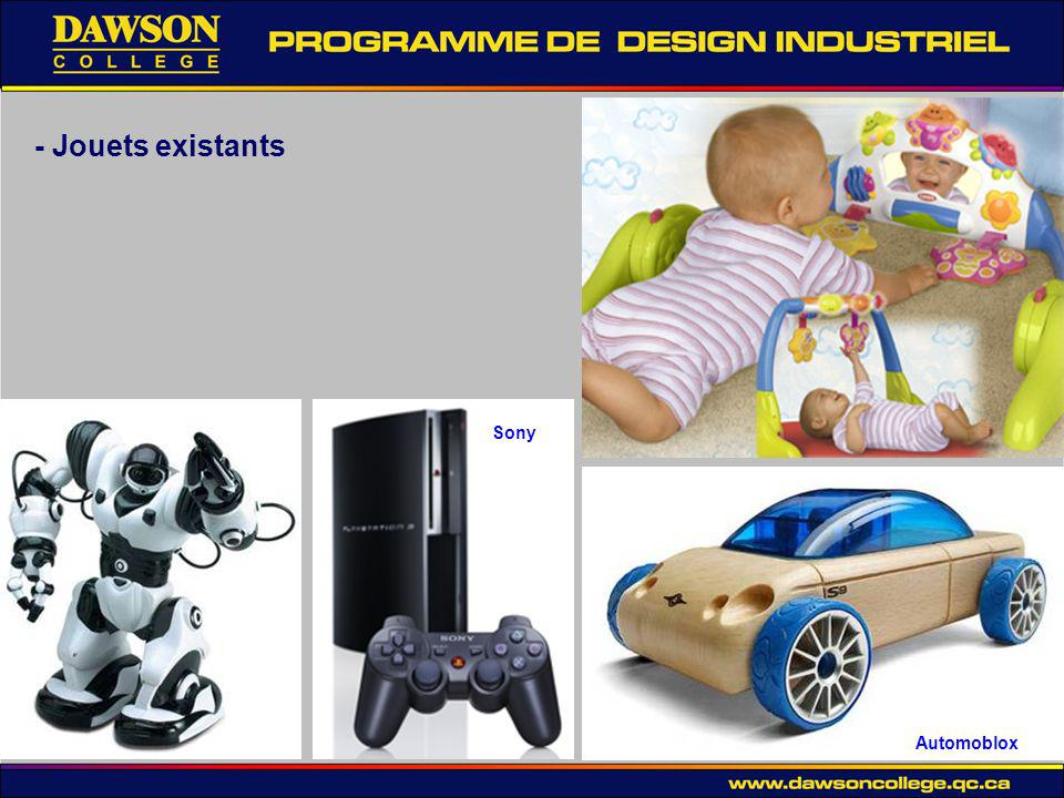 - Jouets existants Sony Automoblox