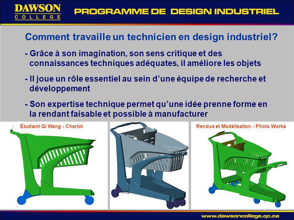 Comment travaille un technicien en design industriel