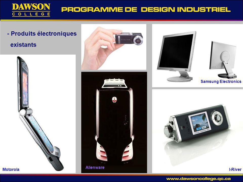 - Produits électroniques existants