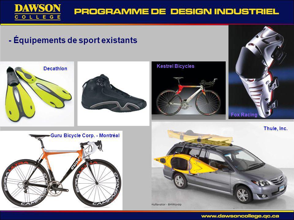 - Équipements de sport existants