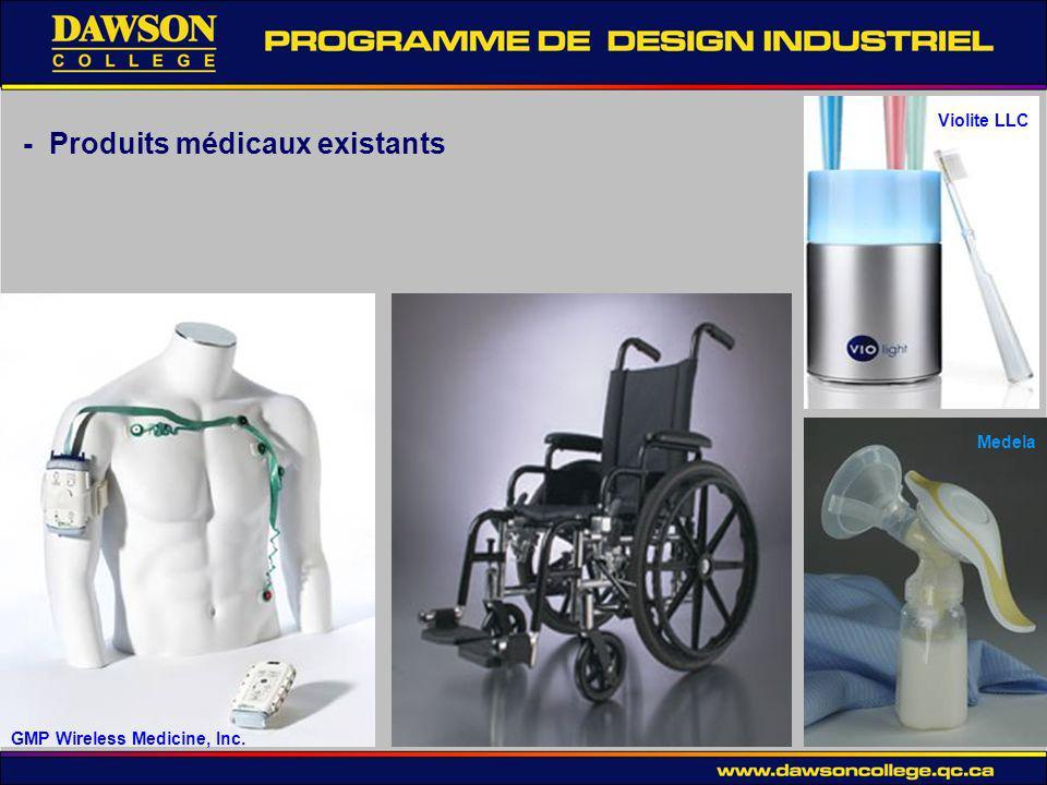 - Produits médicaux existants