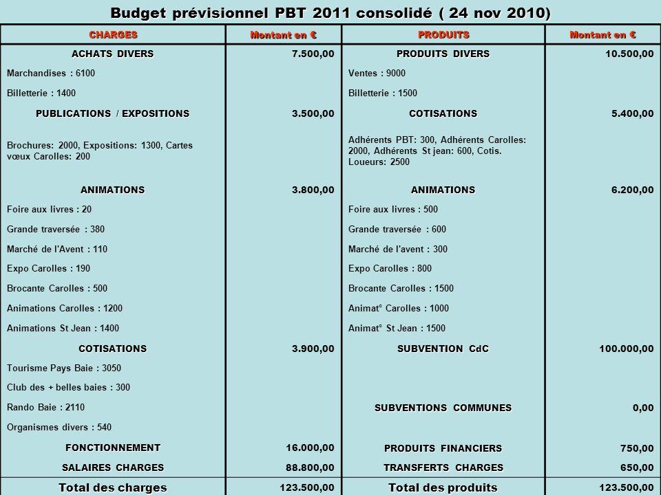 Budget prévisionnel PBT 2011 consolidé ( 24 nov 2010)