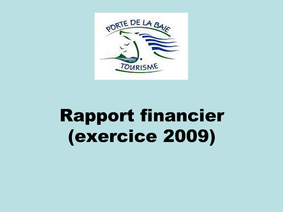 Rapport financier (exercice 2009)