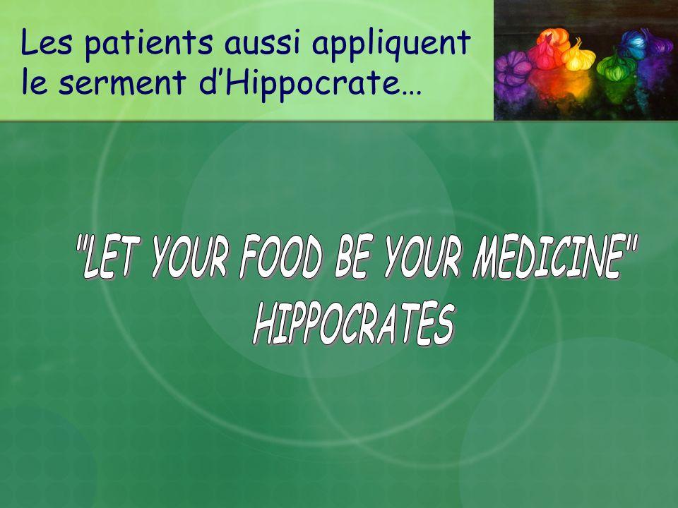 Les patients aussi appliquent le serment d'Hippocrate…