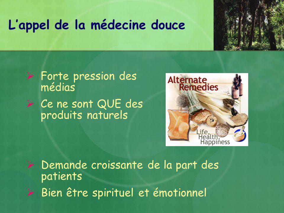 L'appel de la médecine douce