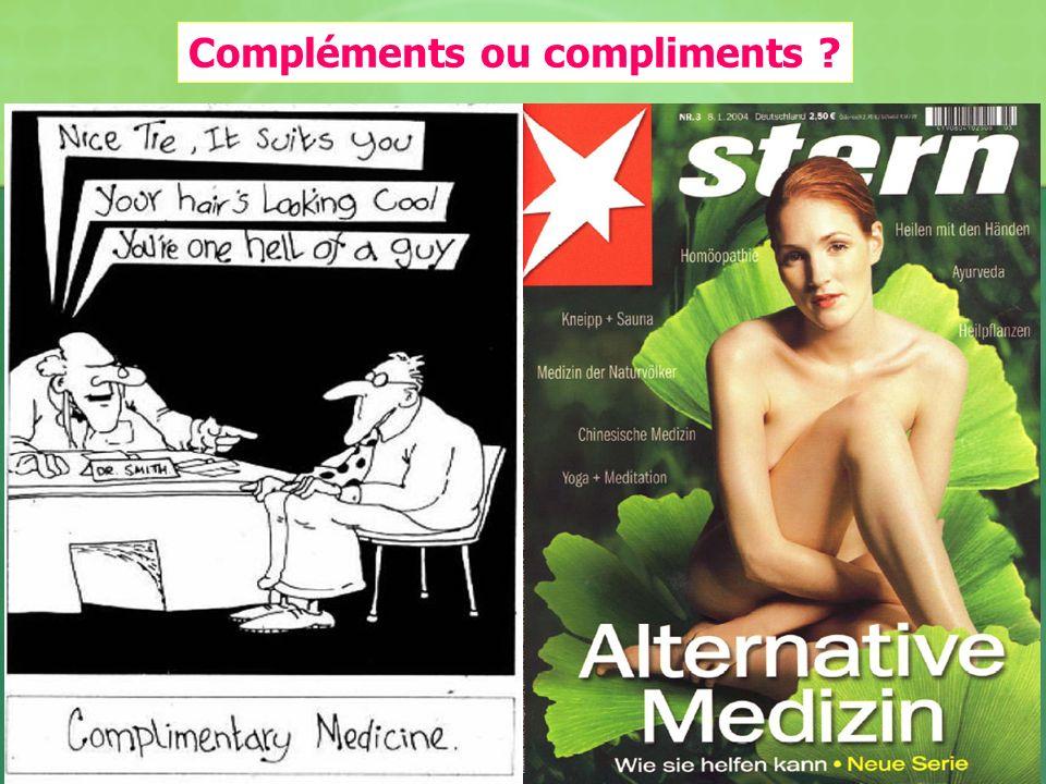 Compléments ou compliments