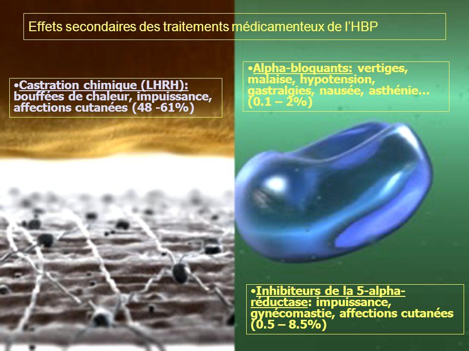 Effets secondaires des traitements médicamenteux de l'HBP
